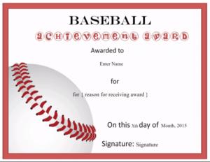 Free Editable Baseball Certificates – Customize Online inside Editable Baseball Award Certificates