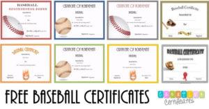 Free Editable Baseball Certificates – Customize Online with Best Editable Baseball Award Certificates
