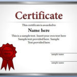 Free Editable Certificate Template For Powerpoint Inside Best Award Certificate Template Powerpoint