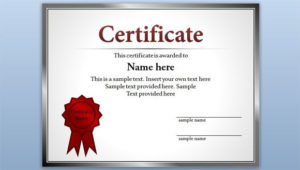Free Editable Certificate Template For Powerpoint regarding Fresh Powerpoint Award Certificate Template