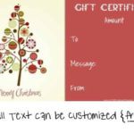Free Editable Christmas Gift Certificate Template | 23 Designs Inside Quality Christmas Gift Templates Free Typable
