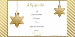 Free Editable Christmas Gift Certificate Template | 23 Designs intended for Homemade Christmas Gift Certificates Templates