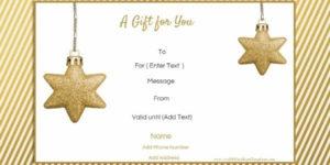 Free Editable Christmas Gift Certificate Template | 23 Designs With Christmas Gift Certificate Template Free