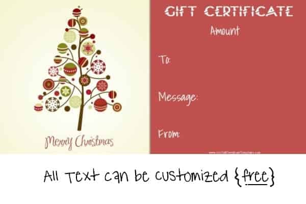 Free Editable Christmas Gift Certificate Template | 23 Designs within Merry Christmas Gift Certificate Templates