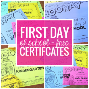 Free Editable First Day Of School Certificates – Teach Junkie for Fresh First Day Of School Certificate Templates Free
