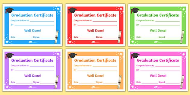 Free! - Editable Graduation Certificates - Primary with regard to Unique 10 Free Editable Pre K Graduation Certificates Word Pdf