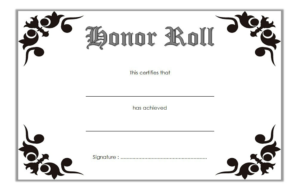 Free Editable Honor Roll Certificate Template 2 regarding Honor Award Certificate Templates