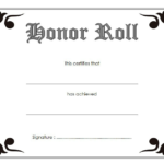Free Editable Honor Roll Certificate Template 2 Throughout Unique Certificate Of Honor Roll Free Templates