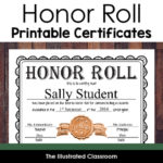 Free Editable Honor Roll Certificates In Unique Certificate Of Honor Roll Free Templates
