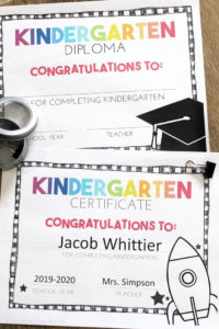 Free, Editable Kindergarten Certificates And Graduation For Kindergarten Certificate Of Completion Free