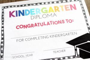 Free, Editable Kindergarten Certificates And Graduation for New Printable Kindergarten Diploma Certificate