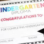 Free, Editable Kindergarten Certificates And Graduation Throughout Kindergarten Certificate Of Completion Free