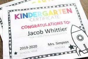 Free, Editable Kindergarten Certificates And Graduation with regard to New Printable Kindergarten Diploma Certificate