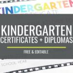 Free, Editable Kindergarten Certificates And Graduation Within Kindergarten Certificate Of Completion Free