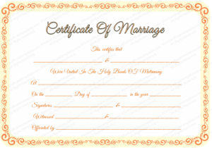 Free Editable Marriage Certificate Template for Unique Marriage Certificate Editable Templates