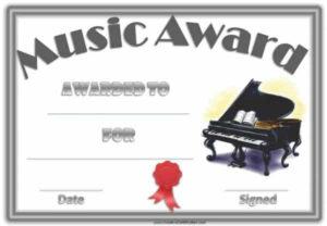 Free Editable Music Certificate Template – Free And Customizable for Piano Certificate Template Free Printable