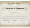 Free Editable Printable Certificate Of Completion Regarding intended for Certificate Of Completion Template Free Printable