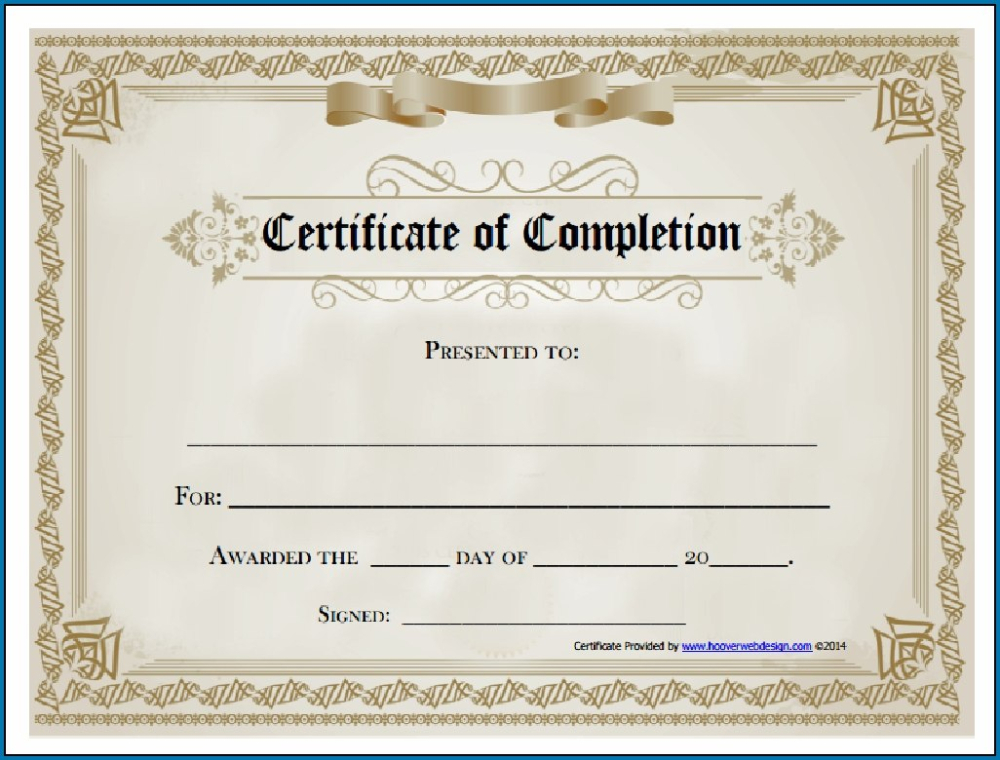 Free Editable Printable Certificate Of Completion Regarding intended for Certificate Of Completion Template Free Printable