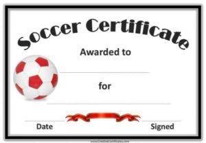 Free Editable Soccer Certificates – Customize Online with regard to Player Of The Day Certificate Template