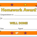 Free! - 👉 Editable Homework Award Certificate regarding Best Classroom Certificates Templates