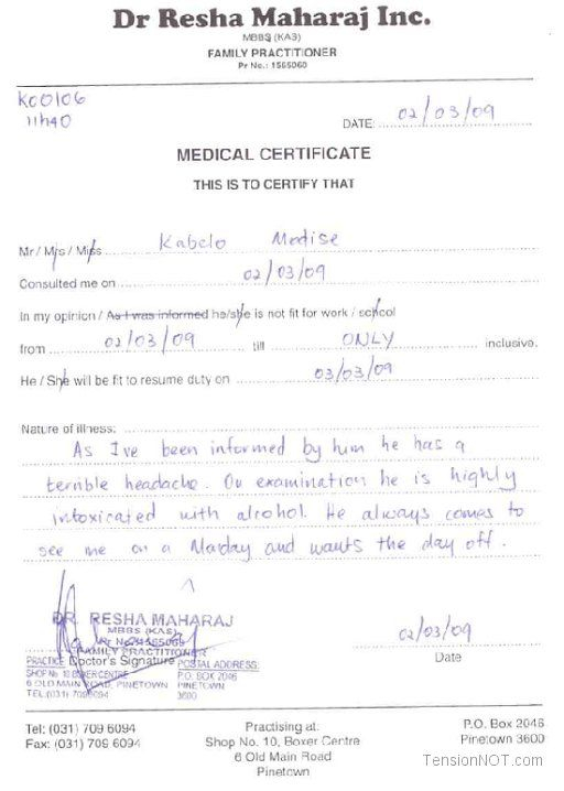 Free Fake Medical Certificate Template (3) - Templates intended for New Free Fake Medical Certificate Template