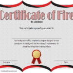 Free Fire Safety Training Certificate Template 2 | Two In Firefighter Training Certificate Template