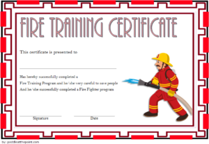 Free Firefighter Certificate Template 4 | Training for Firefighter Training Certificate Template