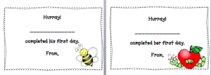 Free First Day At School Certificate – Missmernagh pertaining to First Day Of School Certificate Templates Free