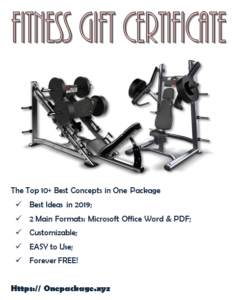 Free Fitness Gift Certificate Template | Gift Certificate throughout Best Free 10 Fitness Gift Certificate Template Ideas