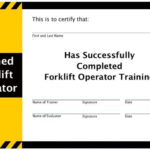 Free Forklift Certification Card Template Download Operator Inside Best Forklift Certification Template