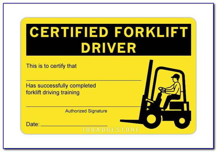Free Forklift Training Certification Card Template inside Forklift Certification Card Template