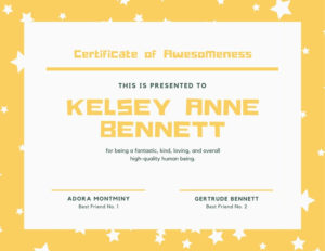Free Funny Certificates Templates To Customize   Canva intended for Unique Fun Certificate Templates