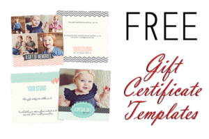 Free Gift Certificate Photoshop Templates From Birdesign throughout Free Photography Gift Certificate Template