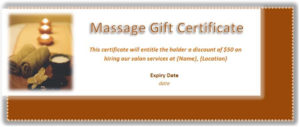 Free Gift Certificate Template: 20+ Best Printable Designs with Massage Gift Certificate Template Free Printable