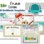 Free Gift Certificate Template | 50+ Designs | Customize Pertaining To Zoo Gift Certificate Templates Free Download