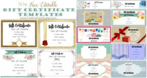 Free Gift Certificate Template | 50+ Designs | Customize within Unique Fillable Gift Certificate Template Free