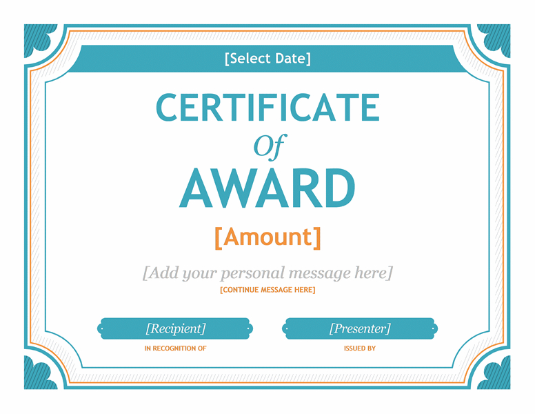 Free Gift Certificate Template Award Template For Word 2013 throughout Certificate Templates For Word Free Downloads