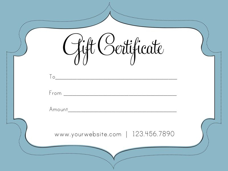 Free Gift Certificate Template, Gift Card Template, Free within Best Company Gift Certificate Template