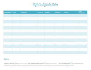 Free Gift Certificate Templates For Massage And Spa regarding Unique Gift Certificate Log Template
