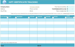Free Gift Certificate Templates For Massage And Spa with Gift Certificate Log Template