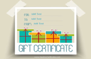 Free Gift Certificate Templates You Can Customize inside Graduation Gift Certificate Template Free