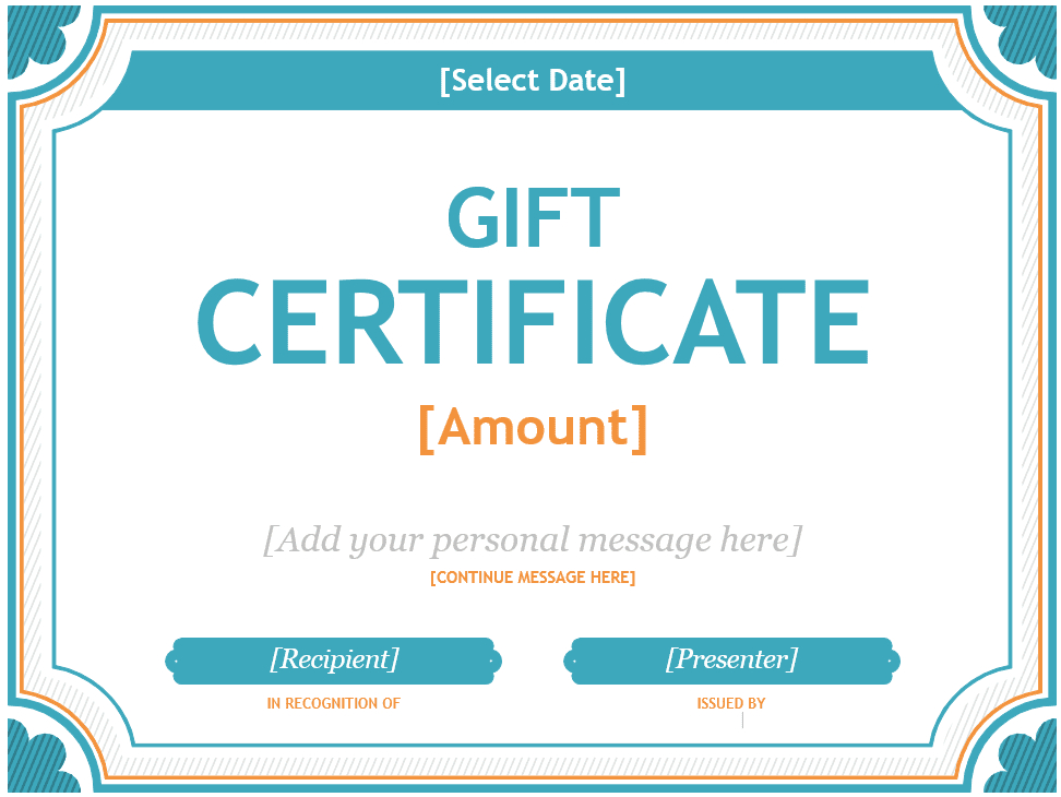 Free Gift Certificate Templates You Can Customize within Quality Microsoft Gift Certificate Template Free Word