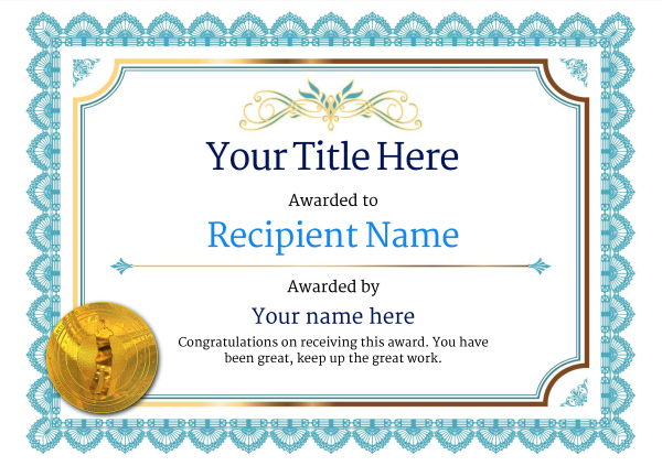 Free Golf Certificate Templates - Add Printable Badges & Medals pertaining to Golf Certificate Templates For Word