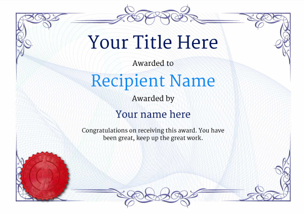Free Golf Certificate Templates - Add Printable Badges & Medals throughout New Golf Certificate Templates For Word