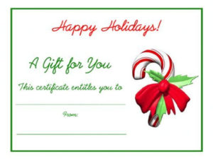Free Holiday Gift Certificates Templates To Print inside Quality Christmas Gift Templates Free Typable