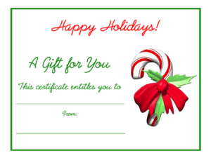 Free Holiday Gift Certificates Templates To Print within Homemade Christmas Gift Certificates Templates