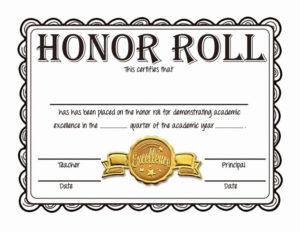 Free Honor Roll Certificate Template Microsoft Word throughout Best Honor Roll Certificate Template