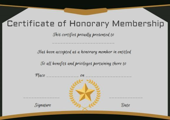 Free Honorary Life Membership Certificate Template for Life Membership Certificate Templates