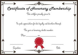 Free Honorary Life Membership Certificate Templates within Unique Life Membership Certificate Templates