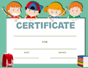 Free Kids Certificate Templates (9) – Templates Example for Free Printable Certificate Templates For Kids